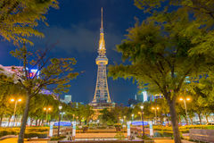 Landmark and commercial center of the city Nagoya Stock Photos