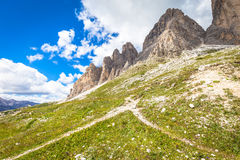 Landmark of Dolomites - Tre Cime di Lavaredo Royalty Free Stock Photography