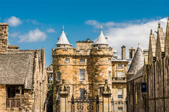 Landmark of Edinburgh - Holyrood Palace Royalty Free Stock Photo