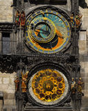 Astronomical Clock, Prague, Czech Republic. Medieval astronomical clock in Prague stock photo