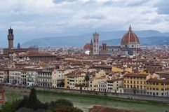 Landscape of Florence, Italy. April 2018. royalty free stock photography