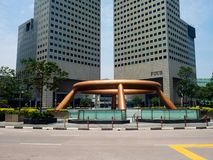 Landmark fountain of wealth at daytime in Singapore Royalty Free Stock Photos
