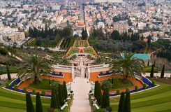 Landmark of Haifa Shrine of the Bab  Stock Photography