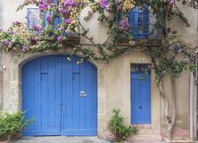 A landmark historic building in the small village of Pezenas in a quiet neighborhood Stock Photo