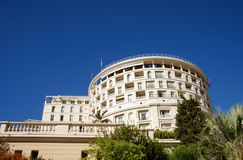 Landmark hotel in Monaco Royalty Free Stock Images