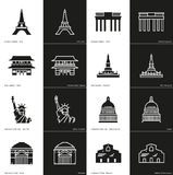 Landmark Icon Pack Royalty Free Stock Images