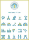 Landmark icons set  design Royalty Free Stock Images