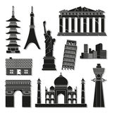 Landmark icons set great for any use. Vector EPS10. Stock Image