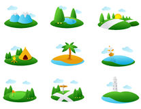 Landmark Illustration Stock Images