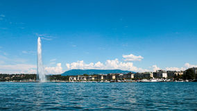 The landmark Jet d'Eau of Geneva, Switzerland Stock Image