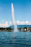 The landmark Jet d'Eau of Geneva, Switzerland Royalty Free Stock Photography