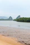 Landmark Khao Kanab Nam Cliff in Krabi Town Royalty Free Stock Images