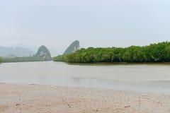 Landmark Khao Kanab Nam Cliff in Krabi Town Royalty Free Stock Image