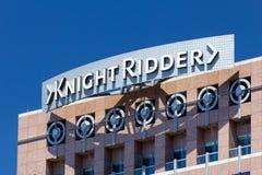 Landmark Knight Ridder building in downtown San Jose Royalty Free Stock Image