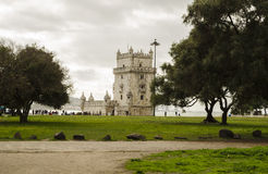 Landmark in Lisbon Stock Images