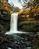 Minnehaha Fallis in Autumn. Landmark Minnehaha Falls in Minneapolis Stock Image