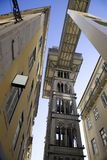 Elevator Elevador de Santa Justa Lisbon Portugal Baixa district opened in 1902, the neo-Gothic Stock Photography