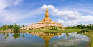 Landmark panorama of wat Thai, Beautiful temple in Thailand Stock Image
