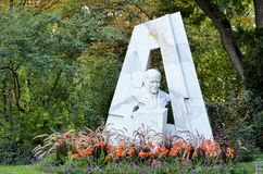 Monument in a park in Vienna Stock Photo