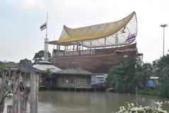 Landmark Pattaya Floating Market thailand royalty free stock photography