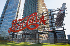 Landmark Pepsi Cola Sign Stock Photography