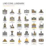 Landmark , pixel perfect icon Stock Images