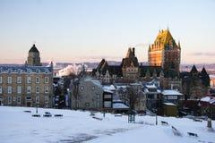 landmark quebec för chateaustadsfrontenac royaltyfri bild