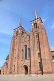 Landmark Danish cathedral. Landmark royal cathedral on the island of Zealand, Denmark Stock Image