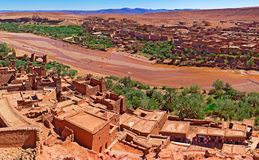 Ouarzazate.Morocco travels and architecture.Village and river. Stock Photography