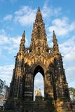 The landmark Scott Monument in Edinburgh in the afternoon sun. And blue sky Royalty Free Stock Photo
