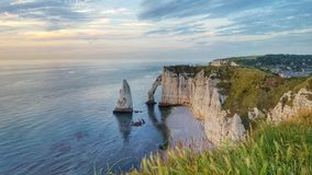 The landmark of the sea of Étretat, Normandie, France Stock Photography