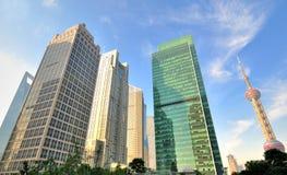 landmark shanghai för porslin för affärsmitt Arkivbild