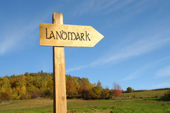 Landmark signpost Stock Images