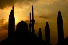 Landmark, Spire, Silhouette, Sky royalty free stock images