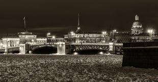 Saint Petersburg night view Royalty Free Stock Photo