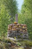 Landmark Between Sweden And Norway stock photo