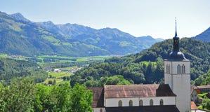 Landmark in swiss Alps. Near Gruyere Stock Photography