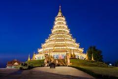 Landmark Temple wat hyua pla kang (Chinese temple) Chiang Rai, T Royalty Free Stock Images