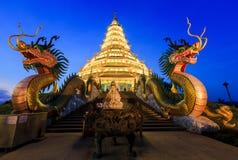 Landmark Temple wat hyua pla kang (Chinese temple) Chiang Rai, T Stock Photography