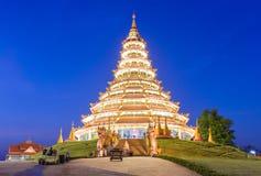 Landmark Temple wat hyua pla kang (Chinese temple) Chiang Rai, T Royalty Free Stock Image