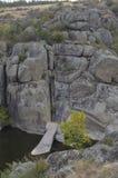 Teschin tongue.Aktovo canyon. Mertvovod River royalty free stock image