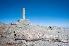 Landmark at the top of a high mountain Stock Photos