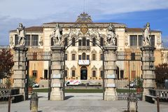 Baroque architecture of Villa Contarini Stock Images