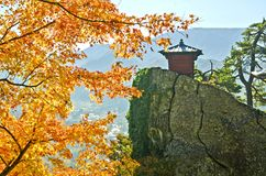 Landmark view point in Yamadera Temple. Japan Stock Photos
