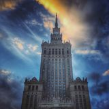 Landmark in Warsaw Royalty Free Stock Image