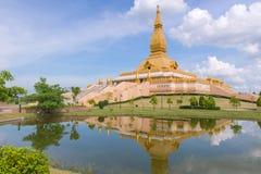 Landmark of wat Thai, Beautiful temple in Thailand Royalty Free Stock Photography