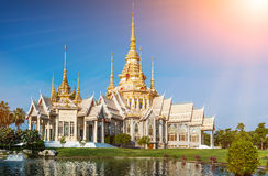 Landmark wat thai Temple at Wat None Kum in Nakhon Ratchasima province. Landmark wat thai Temple at Wat None Kum in Nakhon Ratchasima province Thailand Royalty Free Stock Photos