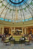 The landmark Westin Palace Hotel in Madrid, Spain. MADRID, SPAIN - The glass rotunda over the restaurant at the landmark Palace Hotel in Madrid opened in 1912 Stock Photography