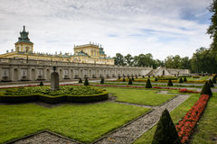 Landmark of Wilanow palace and garden in Warsaw Royalty Free Stock Images