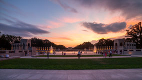 Landmark World War II Memorial fountains at the National Mall in Royalty Free Stock Images